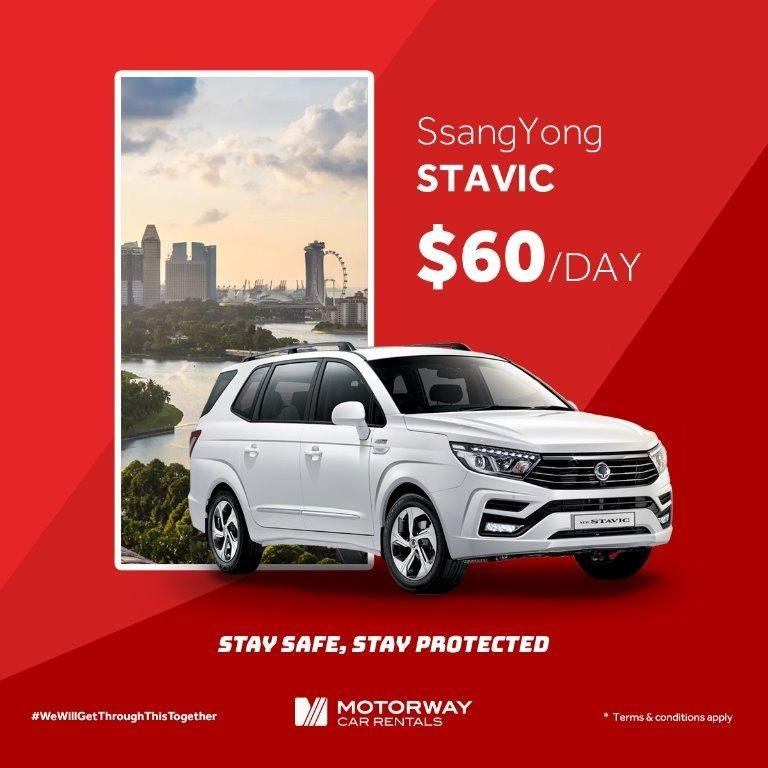 SsangYong Stavic (7/9 Seater MPV 2019 model available, while stocks last!)