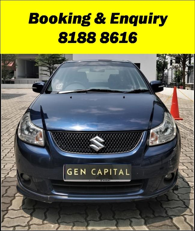 Suzuki SX4 FRIYAYYY!!!  We have lowered rental rates due to Coronavirus for you to travel with a peace of mind. Fuel efficient & Spacious. Just $500 Deposit driveoff immediately. No hidden cost. Whatsapp 8188 8616 now!