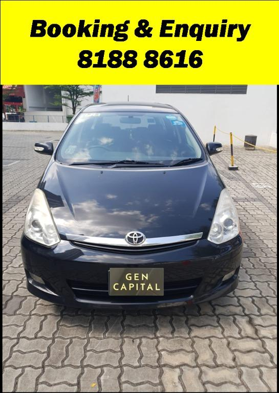 Toyota Wish FRIYAYYY!!!  We have lowered rental rates due to Coronavirus for you to travel with a peace of mind. Fuel efficient & Spacious. Just $500 Deposit driveoff immediately. No hidden cost. Whatsapp 8188 8616 now!