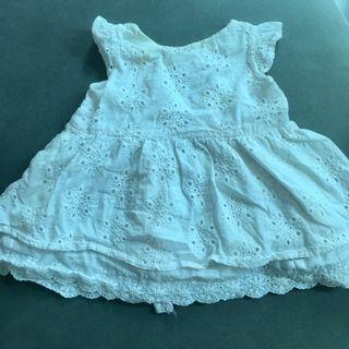 White Eyelet Baby Dress