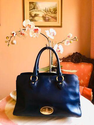 SALE! Original Nicole St. Gilles Paris Genuine Leather Satchel Bag (Excellent Condition, FREE SHIPPING)