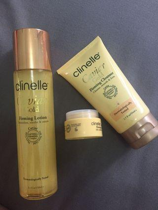 Clinelle caviar gold ( firming lotion, firming cream and firming cleanser )