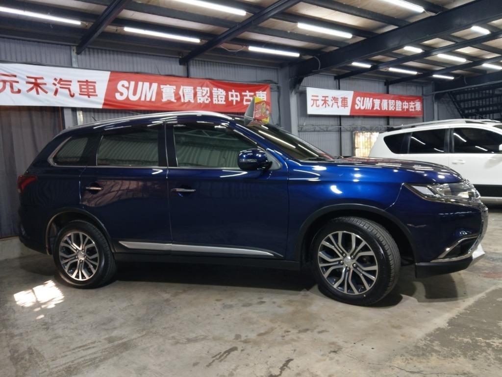 ✨✨2017年 Outlander 2.4藍 ✨✨只要49.8萬 實車實價 全貸 超貸 找錢