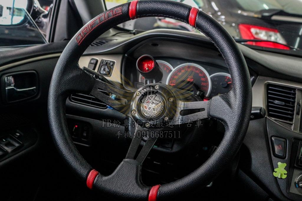 三菱 LANCER 改鋁圈 改排氣管 方向盤 手排 客製化改裝