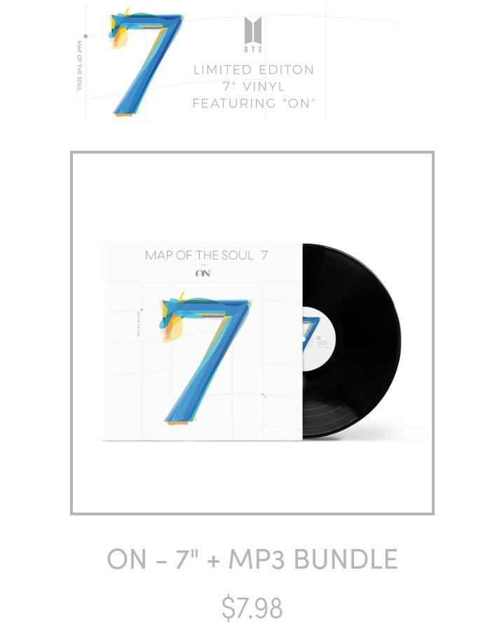 """🇲🇾 [PREORDER GO] #BTS LIMITED EDITION 7"""" VINYL FEATURING """"ON"""""""