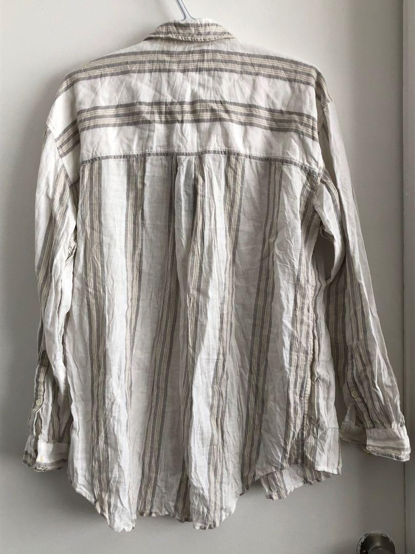 BNWT ARITZIA COMMUNITY LINEN BUTTON UP SHIRT SIZE MEDIUM