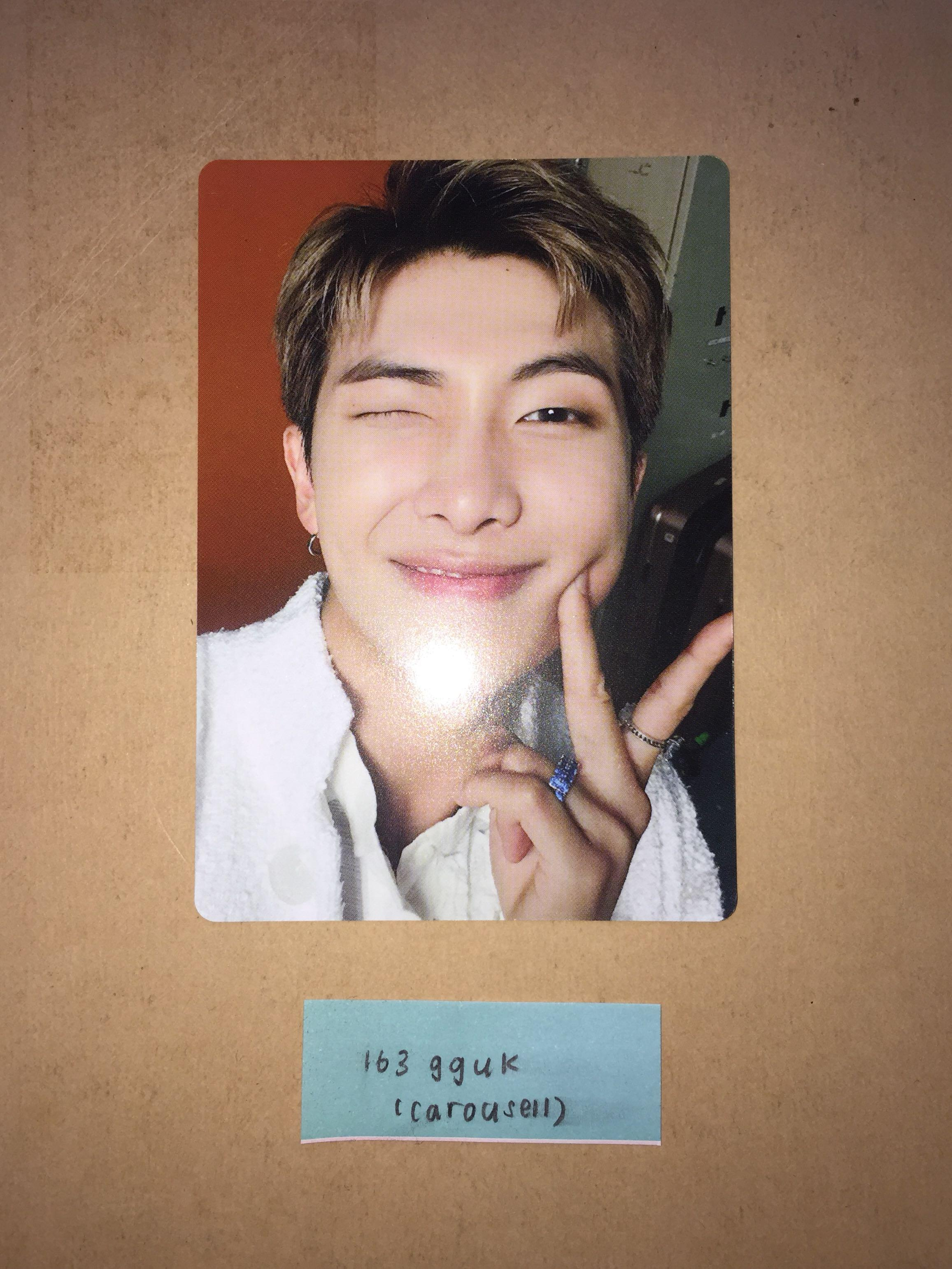 bts speak yourself the final ring set namjoon / rm pc / photocard