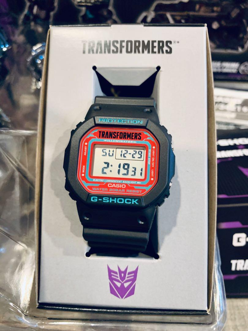 Japan Exclusive JDM Casio G-Shock x Transformers Nemesis Limited Edition Collaboration Watch and Figurine Set