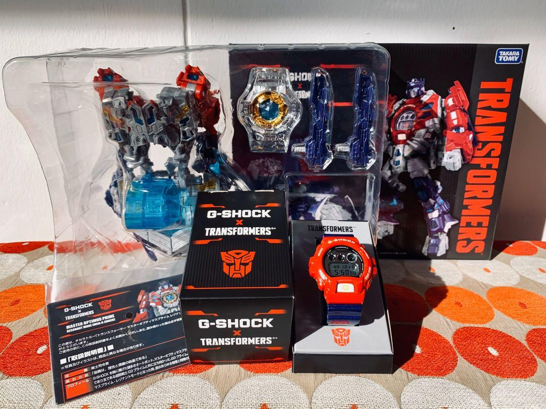 Japan JDM Casio G-Shock x Transformers Resonant Optimus Prime Limited Edition Collaboration Watch and Figurine Set