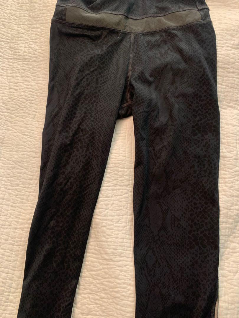 Lululemon Pants Size 4 Subtle leopard print black on black