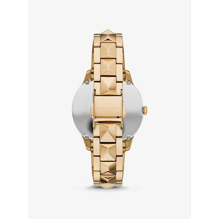 Michael Kors Womens Runway Mercer Analogue Quartz Watch with Stainless Steel Strap MK6669