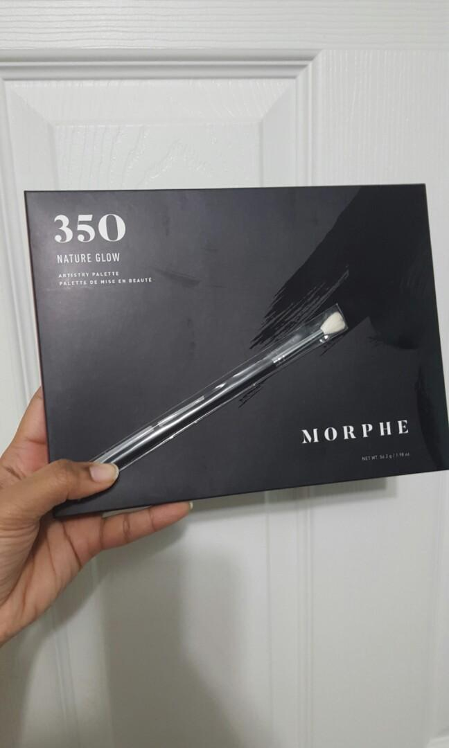 Morphe 350 Natural glow palatte PLUS Morphe M514 eyeshadow brush