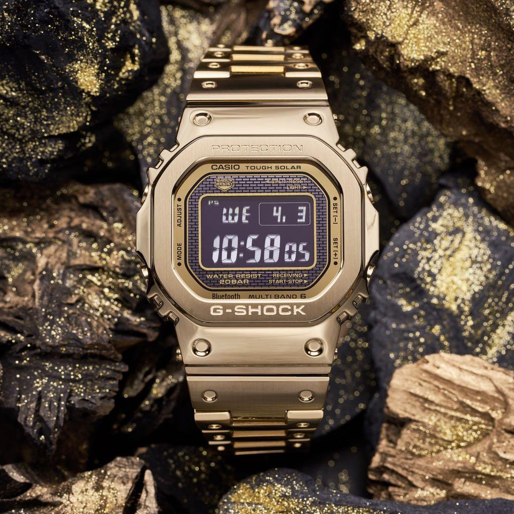 ⭐️SG Special discount: Less $108⭐️ 100% Authentic New Casio G-Shock full metal gold bracelet GMW-B5000GD-9 Watch full set Made in Japan valid local Casio SG Warranty
