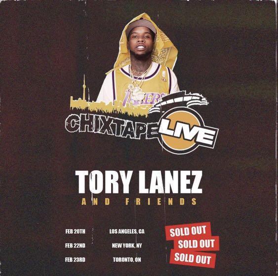 Tory Lanez Chixtape Concert Tickets Toronto Feb 23rd