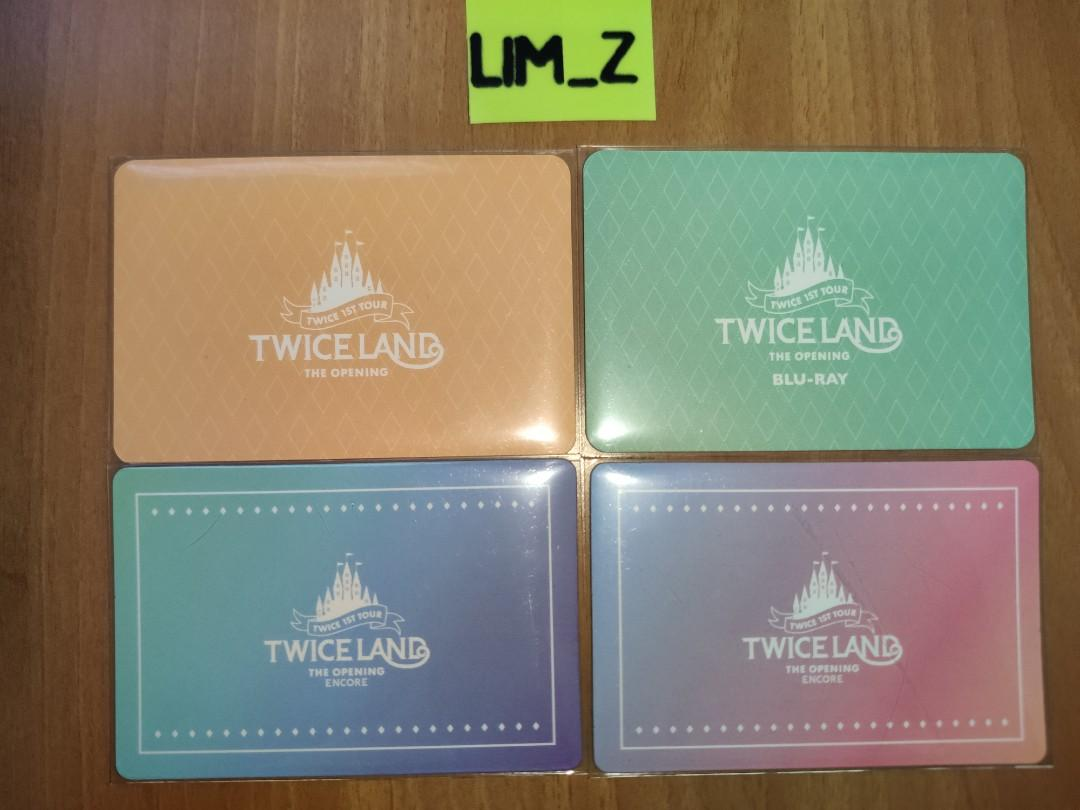 WTS TWICELAND THE OPENING/ENCORE DVD LENTICULAR CARD