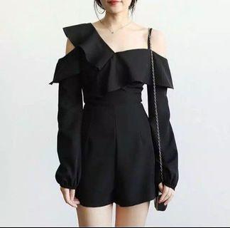 Half Sabrina Jumpsuit Black