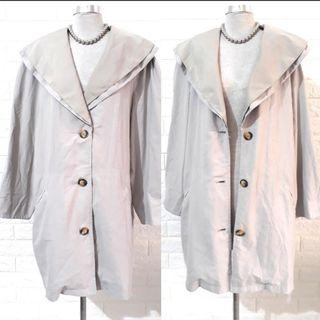 🇰🇷KOREAN UNISEX 2 TONED DOUBLE COLLARED FULLBODY COAT W/BUTTONS