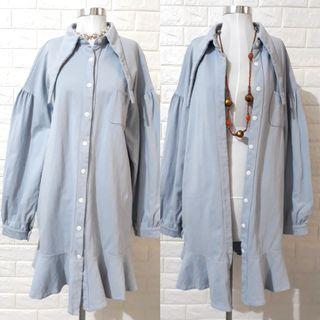 🇰🇷KOREAN SWEATER DRESS BUTTONDOWN