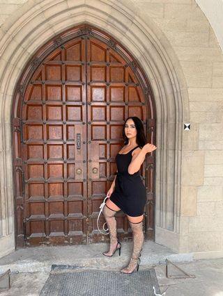 Publicdesire Rhinestone Thigh High Heels