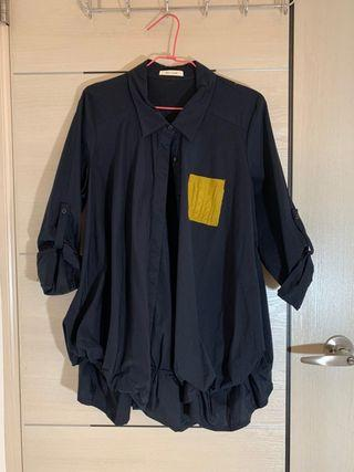 全新*轉賣*MOSS CLUB 西裝領口顯瘦澎澎下擺+反摺袖