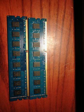金士頓4GB DDR3桌電用,兩支300