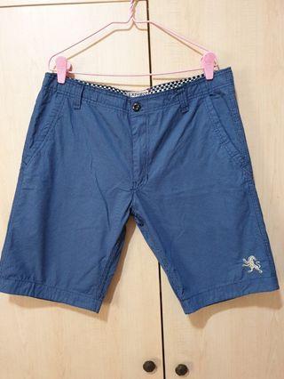 Express Blue Stripes Shorts