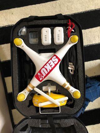 Drone Dji phantom 3 4K siap terbang