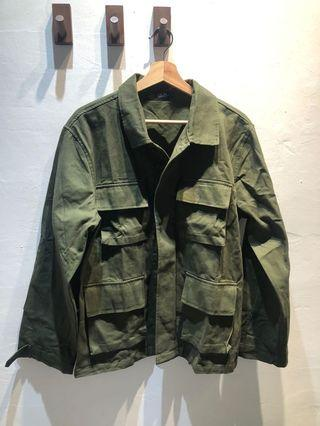 M65 四口袋 軍綠色襯衫 工裝必備 L號