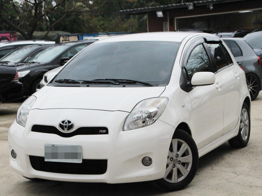 2013 Toyota Yaris 1.5 白 配合全額貸、找 錢超額貸 FB搜尋 : 『阿文の圓夢車坊』