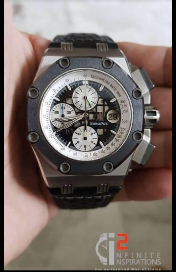 Audemars Piguet Rubens Barrichello II Titanium - Very mint and complete set with Box and Papers
