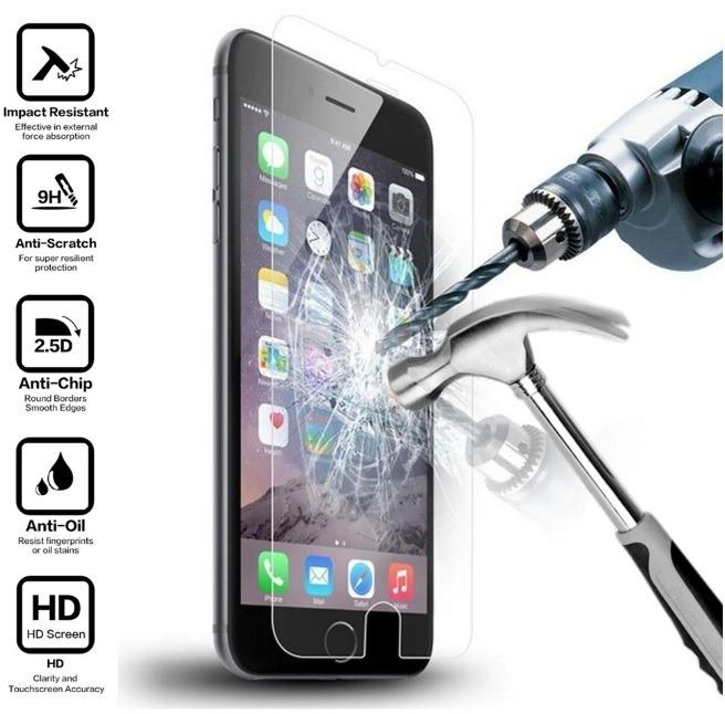 High Quality Apple iPhone 9H Clear Tempered Glass Screen Protector