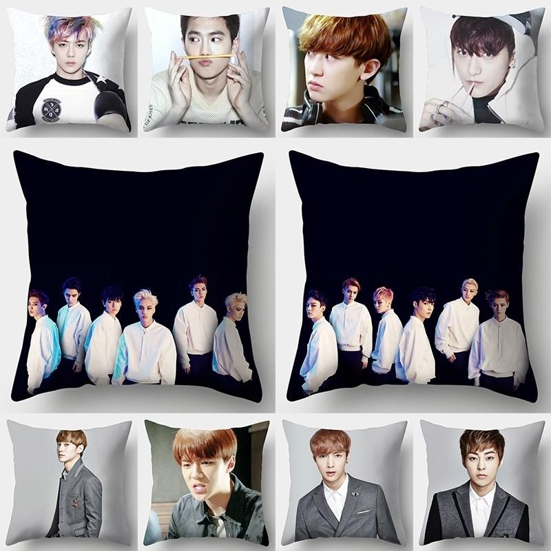 *FREE POST to West Malaysia only / Pre order +-15 days* Polyester fiber pillowcase 45cm* 45cm (EACH) as shown sample design @ EXO group and member. Free delivery is applied for this item.