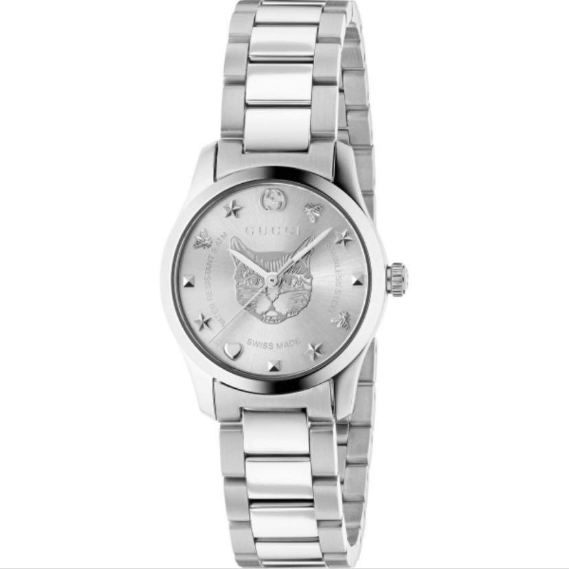 Gucci G-Timeless Silver Dial Couple Watch YA1264095 (38mm)  & YA126595 (27mm)
