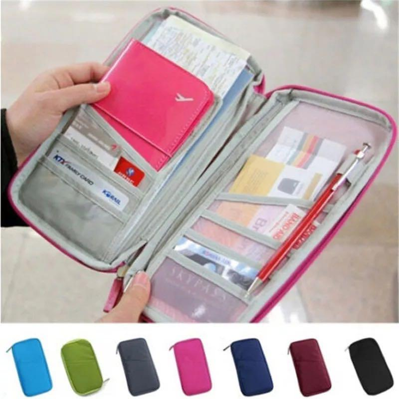 Hot Function Wallet Purse Travel Passport Credit ID Passport Card Cash Holder Case Document Bag Organizer Wallet Bag