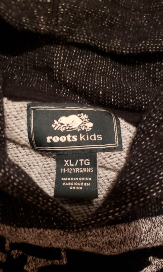 Kids Roots Salt & Pepper Classic Sweatshirt Hoodie