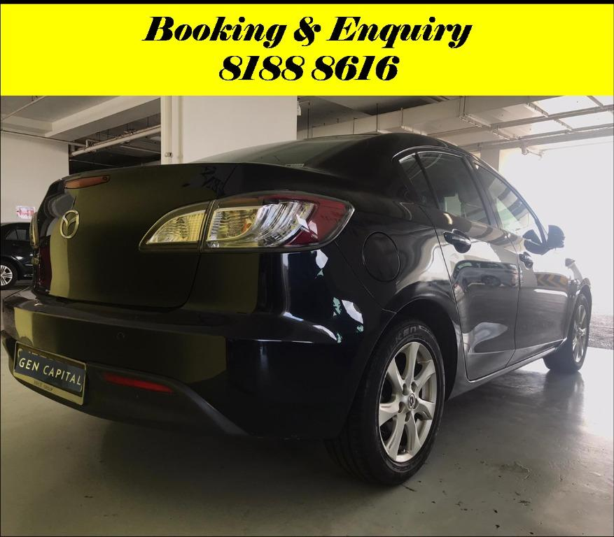 Mazda 3 Sunday Special!!! *JUST IN* We have lowered rental rates due to Coronavirus for you to travel with a peace of mind. Fuel efficient & Spacious. Just $500 Deposit driveoff immediately. No hidden cost. Whatsapp 8188 8616 now!