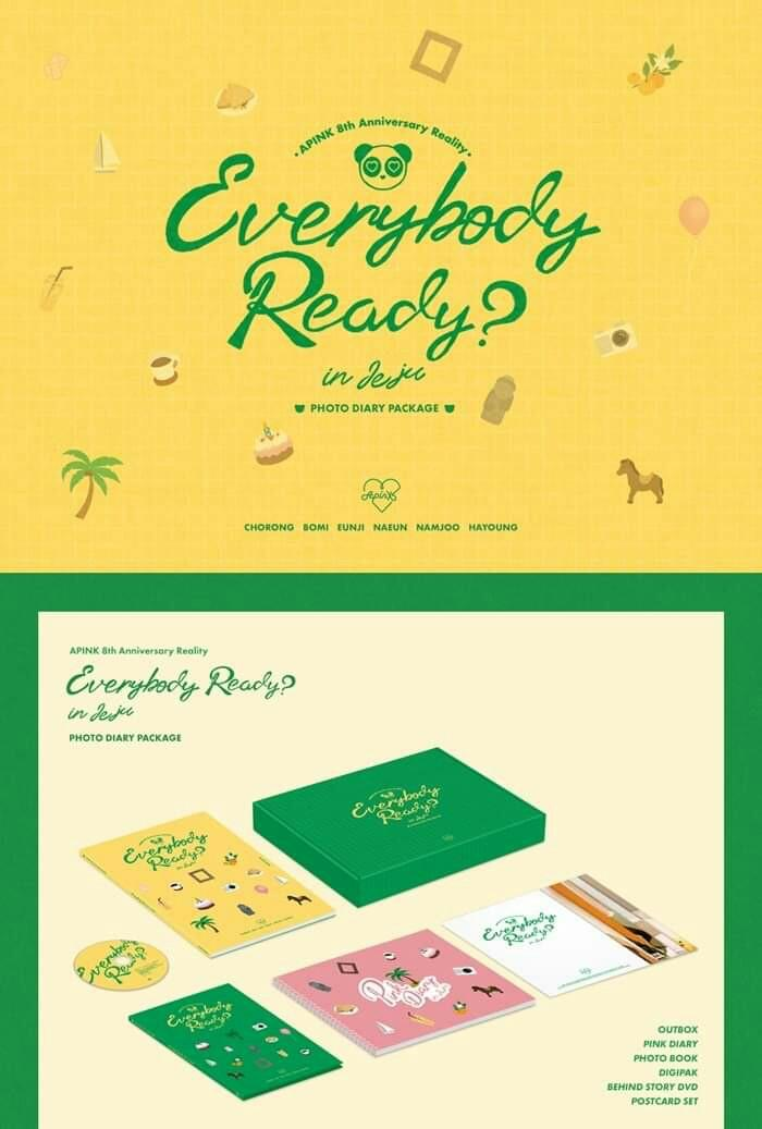 [PO] APINK 8th ANNIVERSARY REALITY  EVERYBODY READY IN JEJU PHOTO DIARY PACKAGE