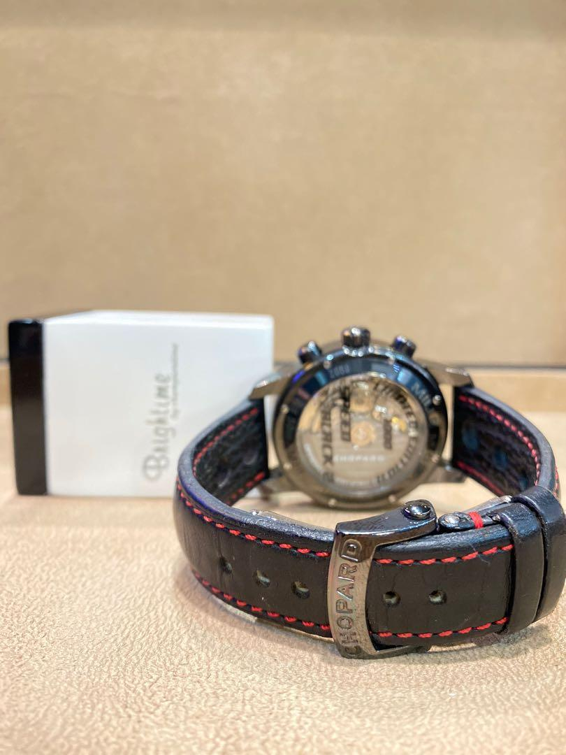 Pre Owned Chopard 1000 Miglia GMT 168992-3001 Speed Black 2 Black Automatic DLC Casing Leather