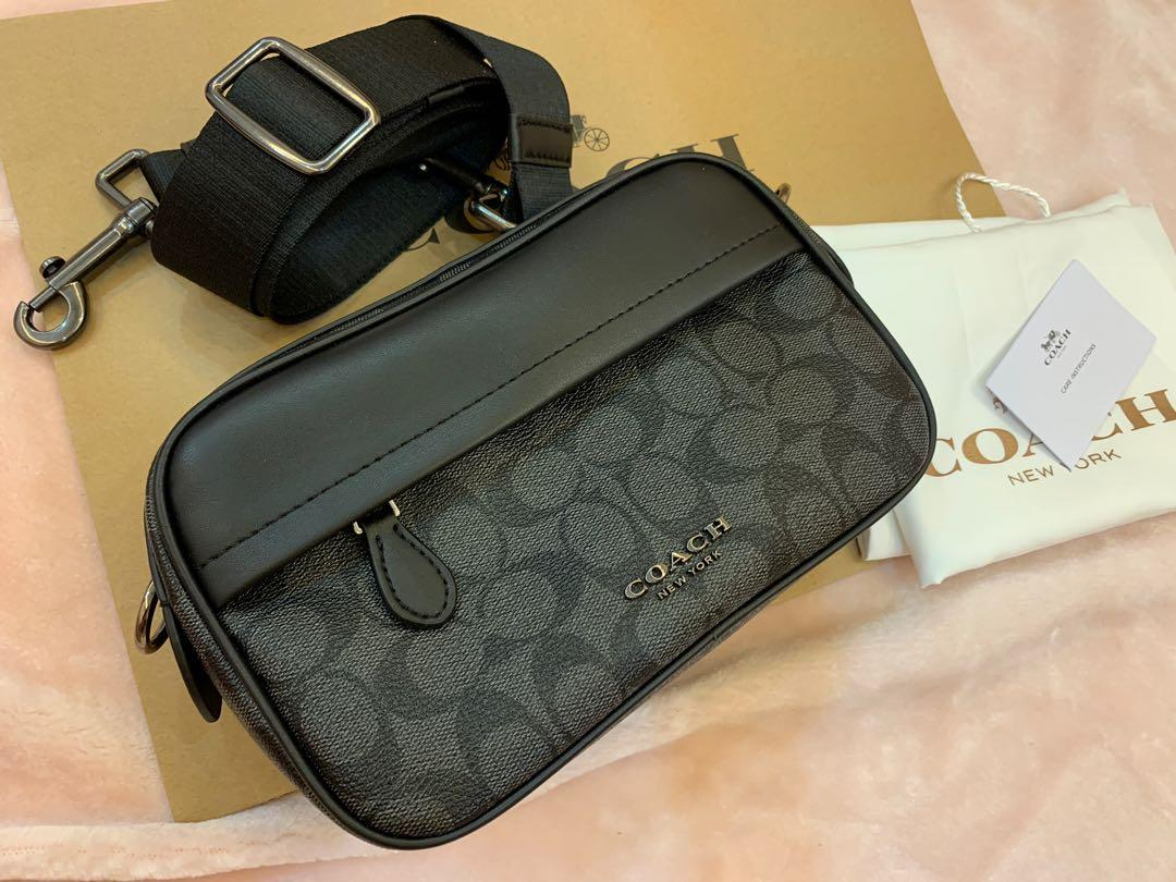 Ready stock original coach 50715 men sling bag crossbody handbag monogram