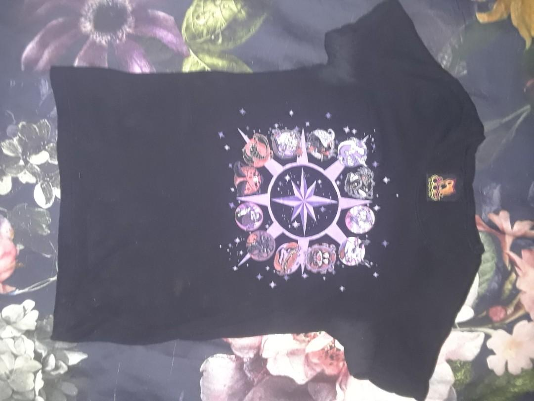 Vintage Astrology evil zodiac print goth punk T shirt sexy alternative
