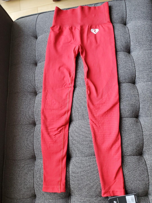 Women's Best Power Seamless Leggings - Red, Size Small