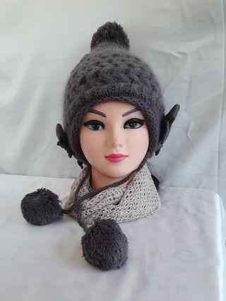 秋冬雙層球球針織帽    現貨