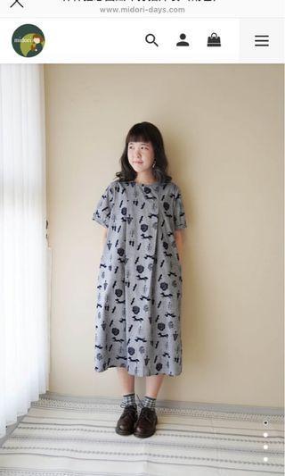 midori 綠 🌼森林狂想曲絨布打褶洋裝 (僅試穿)🌼