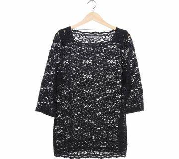 Marks & Spencer Black Lace Blouse