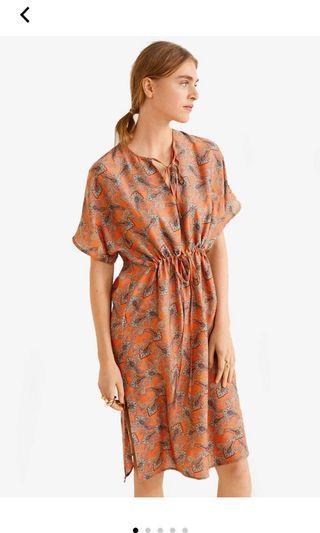 Mango Orange Dress