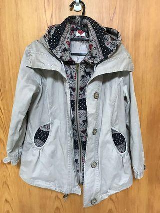 日本🇯🇵帶回~ 🌼假兩件式毛衣外套(古著)🌼