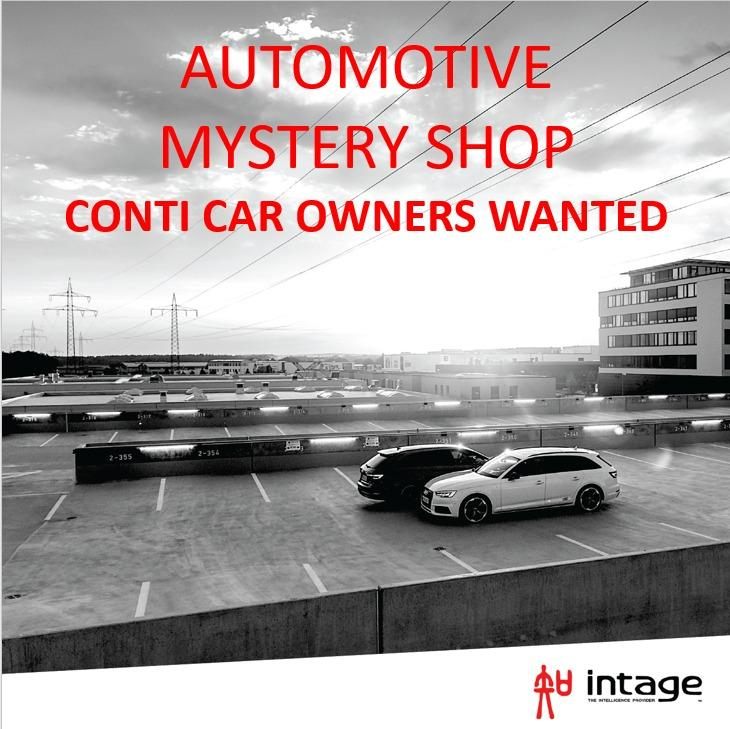 CONTI AUTOMOTIVE MYSTERY SHOP - $100 PER COMPLETED