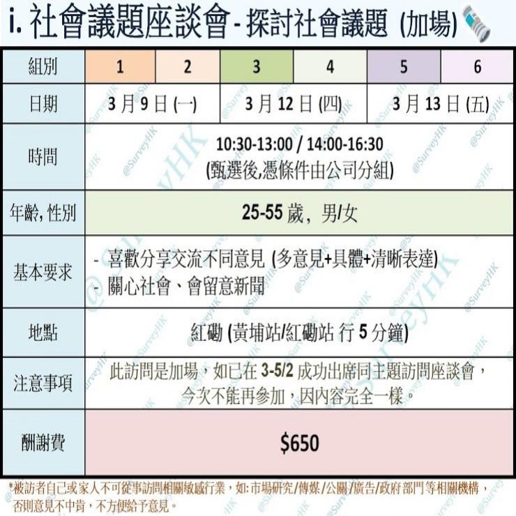 i.社會議題座談會📰 (9-13/3)