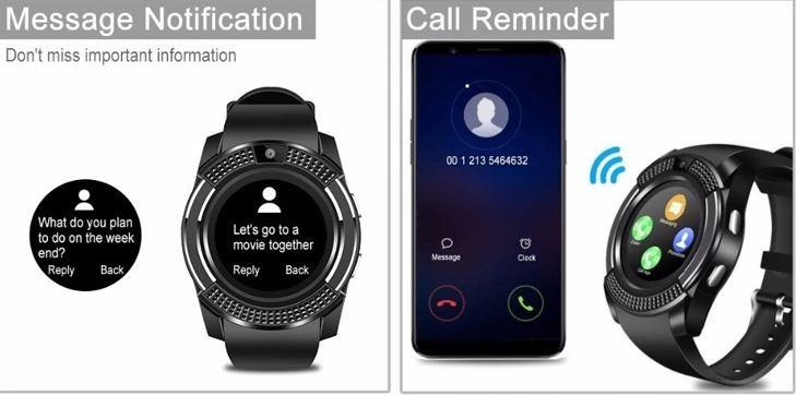 ip68 V8 smart watch waterproof phone Call 2G SIM memory Card Camera