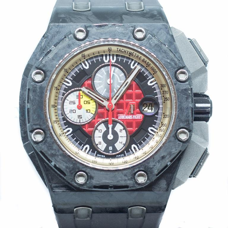 Preowned Audemars Piguet ROO Chronograph Grand Prix in Forged Carbon Ref: 26290IO.OO.A001VE.01